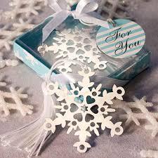 christmas table favors to make snowflake bookmark wedding favour christmas party