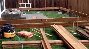 How To Build A Awning Over A Deck How To Build A Floating Deck Youtube