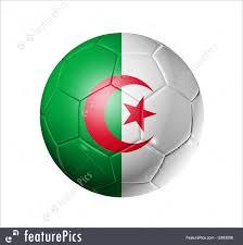 Algerian Flag Sport Games Soccer Football Ball With Algeria Flag Stock