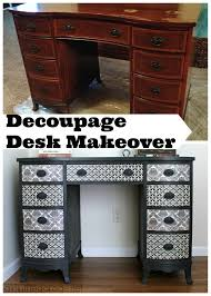 French Computer Desk by Decoupage Desk Makeover Girl In The Garage