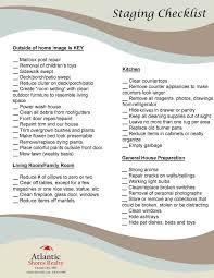 staging checklist atlantic shores realty
