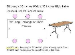 tablecloth for 6 foot folding table tablecloths lovely what size tablecloth for 6 foot rectangular