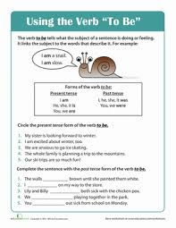 grammar basics using the verb to be worksheet education com