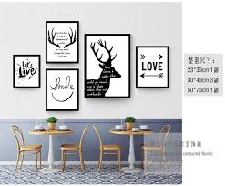 shop deer inspiring quotes canvas painting nordic