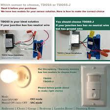 topgreener tdos5 w 2 in 1 pir occupancy vancancy motion sensor