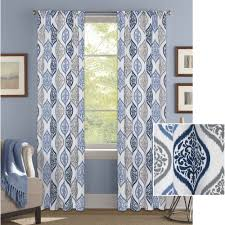 Better Homes And Gardens Kitchen Curtains Better Homes And Gardens Damask Ogee Curtain Panel Walmart Com