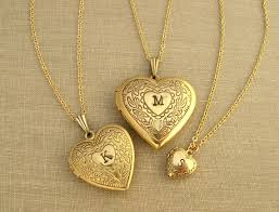 personalized heart locket personalized heart locket necklace s day gift gold