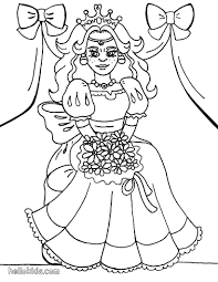 princess with flower coloring pages hellokids com
