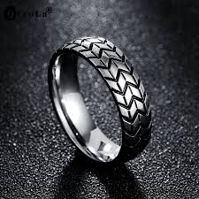 tire wedding ring qiao la 6mm s tire ring vintage stainless steel wedding rings