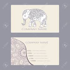 Business Card Invitation Set Of Business Card And Invitation Card Templates With Lace