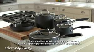 target calphalon black friday select by calphalon 12 piece hard anodized non stick cookware set