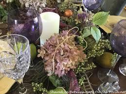 Hydrangea Centerpiece Fall Tablescape With A Beautiful Hydrangea Blossom Centerpiece