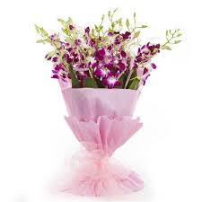 Orchid Bouquet Elegance Of Orchids Tajgift Com U2013 Send Flowers U0026 Cakes To India
