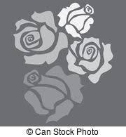 stock illustration of four color flower rose sketch illustration