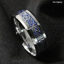celtic mens wedding bands 8 6mm silvering celtic tungsten carbide ring wedding band