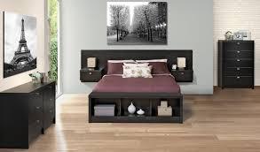 prepac series 9 designer floating black headboard bedroom set at