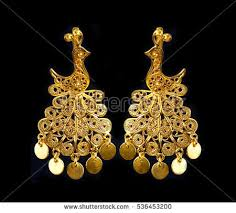 gold earrings for women images gold earrings stock images royalty free images vectors