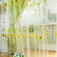 Yellow Curtains For Living Room Online Buy Wholesale Sunflower Curtains From China Sunflower