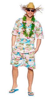Hula Halloween Costume Hawaiian Beach Mens Fancy Dress Tropical Hawaii Luau Hula Adults