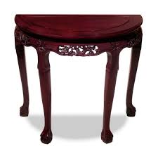 Half Moon Console Table Furniture Cherry Wood Carved Half Moon Console Table Using