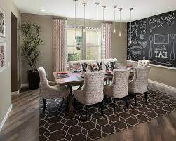 patterned dining chairs dining room transitional with mini