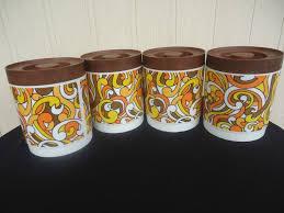orange kitchen canisters 550 best 60 70s tin love images on pinterest kitchen utensils