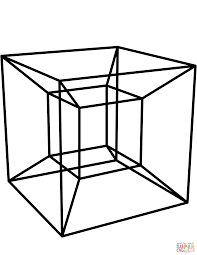 tesseract coloring page free printable coloring pages