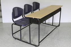 institutional furniture desk with three seater manufacturer from