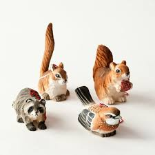 wood animal ornaments set of 4 by one hundred 80 degrees sakina