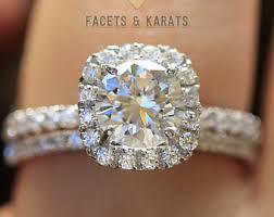 bridal set wedding rings bridal sets etsy