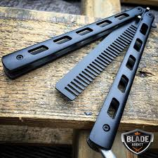 butterfly comb butterfly balisong trainer comb knife tool rainbow metal