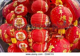 new year lanterns for sale lanterns for sale in yaowarat bangkok stock photo