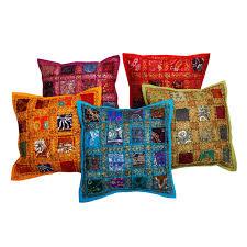 Cargo Furniture Cushion Covers Jaipuri Designer Patchwork Cushion Cover Set Colourful Covers