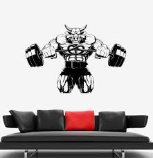 decal wall bull anger aggression strength sports muscles vinyl decal wall bull anger aggression strength sports muscles vinyl sticker ed497