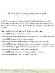physical therapist resume physical therapy resume exles federal physical therapist resume 1