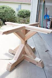 Woodworking Plans Coffee Table Legs by Farmhouse Style Round Pedestal Table Free Woodworking Plans