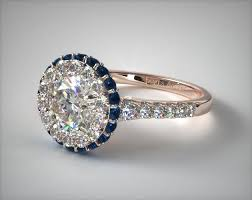 sapphire accent engagement rings sapphire accented falling edge engagement ring 14k gold