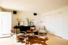 Silver Cowhide Rug Decorating Decorating Living Room Ideas Using Cowhide Rug