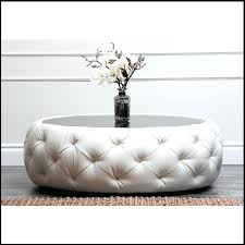 round leather tufted ottoman large round tufted ottoman tufted round ottoman living room