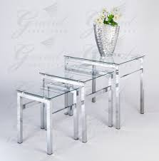 glass living room table sets glass nest of tables 3 coffee side coffee l table set living room