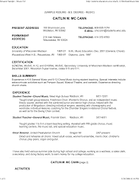 Piano Teacher Resume Sample by Music Teacher Resume Berathen Com
