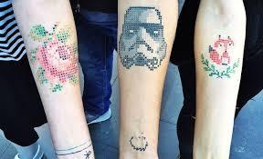 eva krbdk incredible cross stitch effect tattoos have gone viral