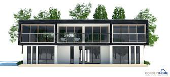 contemporary home plan with open planning and three bedrooms