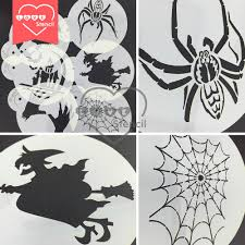 new halloween stencil set for cake decoration corner u0026 haunted