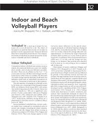 volleyball in physiological testing of elite athletes 2nd