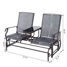 Patio Rocking Chairs Metal Glider 2 Seater Patio Rocking Chair Metal Swing Bench Furniture