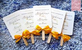 wedding ceremony fan programs wedding card malaysia crafty farms handmade glam gold wedding