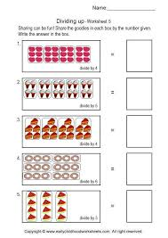 beginning division worksheets with pictures free worksheets