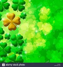 four leaf clover lucky irish shamrock bokeh background ilustration