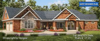 craftsman style custom home plans bradley park house plan 17 25 front elevation craftsman style